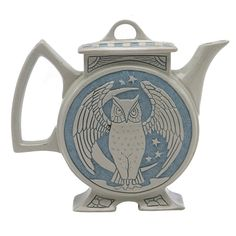 """Description: Roseville Pottery Co., Rozane Ware, Della Robbia teapot, Zanesville, OH, marked, 7.5""""w x 7""""h Estimated Value: $1,200 - $1,700"""