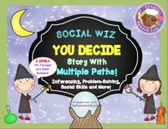 "As your students choose their own path in this illustrated ""You Decide"" story, they will work on inferencing, vocabulary, social skills & more! With 2 reading levels and 35 context clues, this kid-friendly packet of over 35 pages is sure to bring critical inferential and language skills to life!"