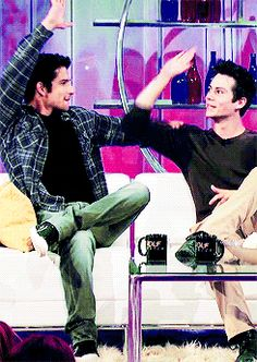 Dylan O´Brien and Tyler Posey - o´brosey gif