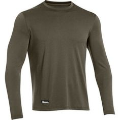 Activewear Able Under Armour Men's Coldgear Blue Fitted Long Sleeve Crew Neck Size Large Exquisite Craftsmanship;