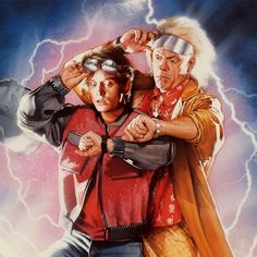 "Art by Drew Struzan...I love ""Back to the Future!"""