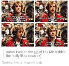 <3  The ever adorkable Aaron Tveit <3