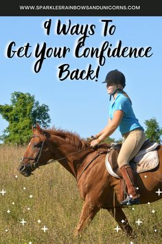 These are 9 different ideas you can use to build your confidence with horses & riding. Whether you are a beginner horse rider or experienced rider, and you want to build or rebuild your confidence with horses, this post is for you. If you are nervous, tense, or a fearful equestrian these confidence building ideas can help you too! #confidencebuildingwithhorses #buildingconfidencewithhorses #horseconfidencebuilding #horsefear #horseridingfear #horseridingconfidence #horsebackridingconfidence Horse Riding Tips, Bicycle Workout, Riding Lessons, Confidence Building, Building Ideas, My Ride, Horseback Riding, You Can Do, Equestrian