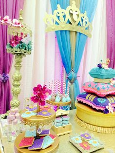 Princess Jasmine baby shower party! See more party ideas at CatchMyParty.com!