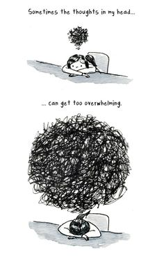 Overthinking small thought big thought sit chair girl boy: Introvert Comics By Debbie That Only People With Social Anxiety Will Understand What Anxiety Feels Like, Angst Quotes, Infp Quotes, Poetry Quotes, All The Bright Places, Coping With Depression, Depression And Anxiety Quotes, Black Dog Depression, Feelings