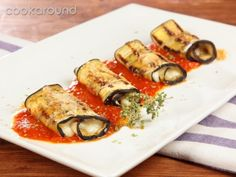 Involtino di melanzane alla parmigiana - eggplants parmigiana recipe video
