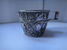 STERLING RE-CREATION ANCIENT VAPHIO CUP MUG GREEK - ? Greek, Vase, Ebay, Mugs, Tableware, Silver, Tumblers, Dinnerware, Tablewares