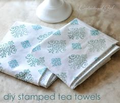 Stamped Tea Towels  hostess-gifts-in-under-an-hour