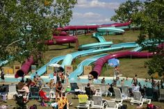 In Winnipeg, Canada, enjoy a day of fun in the sun and amusement with water slides, zip lines, food and even a few souvenirs. Island Water Park, Travel Sights, Win A Trip, Water Slides, Tourism, Canada, Adventure, Mountain, Water Parks