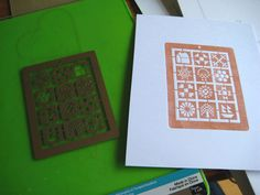 stencil how-to, Embossing and printing with your Cuttlebug