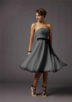 Remember this for when my sister gets married-silver cocktail dress