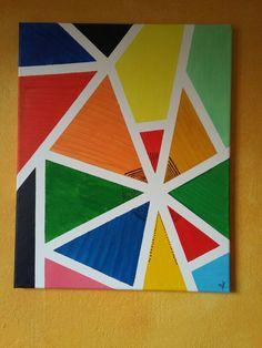 Bund Dreieck Leinwand