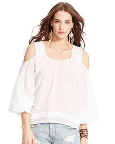 Gauze Off-the-Shoulder Blouse - Denim & Supply  Shirts & Blouses - RalphLauren.com