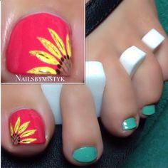 This Cool summer pedicure nail art ideas 2 image is part from 75 Cool Summer Pedicure Nail Art Design Ideas gallery and article, click read it bellow to see high resolutions quality image and another awesome image ideas. Pedicure Designs, Pedicure Nail Art, Toe Nail Designs, Toe Nail Art, Fancy Nails, Love Nails, Pretty Nails, My Nails, Accent Nails