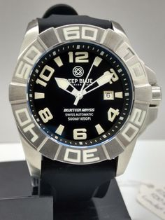 Deep blue bluetech abyss 500 #black swiss #automatic #sapphire 47mm mens dive wat,  View more on the LINK: 	http://www.zeppy.io/product/gb/2/191951388246/