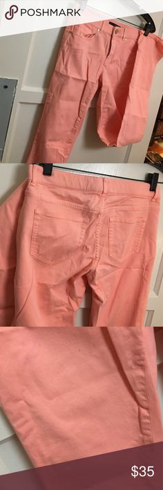 Peach Elie Tahari Straight Leg Pants Third pic shows all tiny spots on the pants (price adjusted for this) Elie Tahari Pants Straight Leg