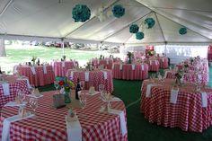 Upscale picnic wedding reception