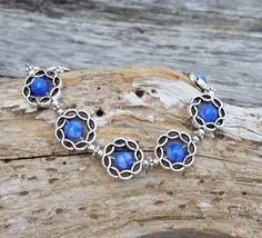 Blue Gemstone Bracelet, Gemstone Jewelry