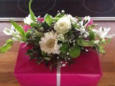 Blomster dekoration  som gave