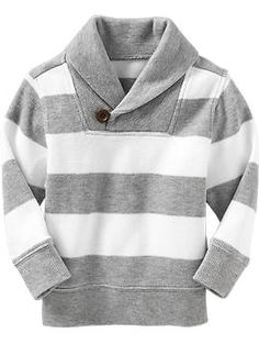 Striped Shawl-Collar Pullovers for Baby | Old Navy