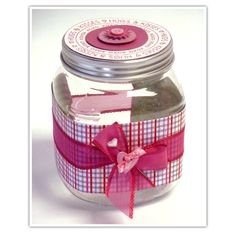 Valentine Hugs and Kisses Treat Jar