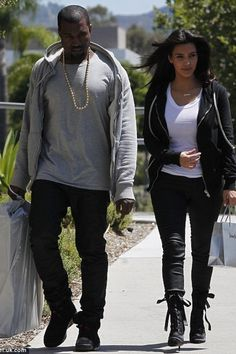 Kanye and Kim keeping it cool...