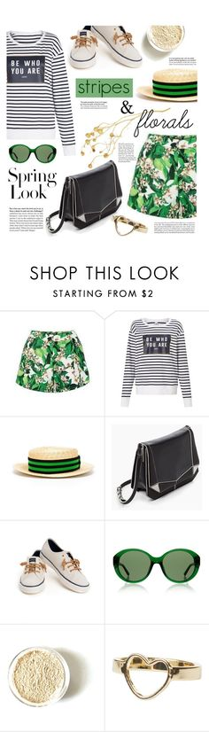 """stripes & florals"" by agnesfrs ❤ liked on Polyvore featuring Lorna Jane, Lanvin, Sperry, The Row, Monki and H&M"