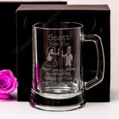 Engraved 500m Beer Mug Gift Boxed Box Gl Wedding Personalised Groomsman Favor Ebay