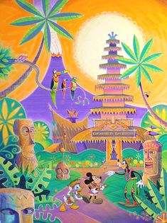 Featured Attraction - Enchanted Tiki Room by Disney-club on deviantART Retro Disney, Disney Love, Disney Mickey, Disney Parks, Punk Disney, Modern Disney, Disney Stuff, Walt Disney, Tiki Art