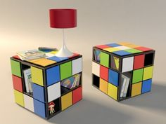 Our lives aren't always easy and fun. Interiors of our homes usually can prove that. It's a good idea to make them more fun. One way to do that is to buy furniture that loos cool and fun. For example that could be furniture inspired by toys. Here is a coffee table inspired by famous toy Rubik's Cube. It's customizable and features a lot of built-in storage. Each table uses no glue and the pieces are put together through wood dowel pins. The material used are sheets of plywood and the finish is made with lacquer ink. Why not to make your life more fun?