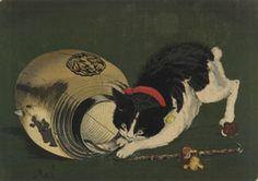 浮世絵師『小林 清親』【猫と提灯】
