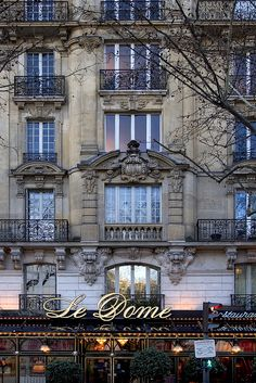 Rita Crane Photography: historic restaurant, Le Dome / Haussman architecture / Paris, France