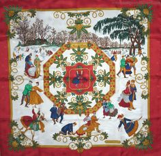 "Joies+d'Hiver+1992+reissued+2002+Joachim+Metz+red+white+(from+<a+href=""http://piwigo.hermesscarf.com/picture?/5465/category/Home"">HSCI+Hermes+Scarf+Photo+Catalogue</a>)"