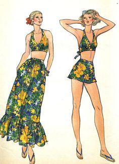 Vintage Vogue 9788 UNCUT Misses Halter Swimsuit by RomasMaison, $32.00