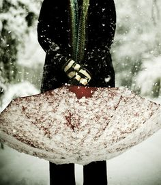 Snow ..I have to admit I just love using my umbrella when walking during a snowfall!