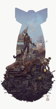 The Geeky Nerfherder: Cool Art: 'Fallout 4' by AJ Frena