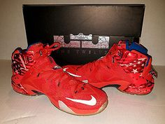 Nike LeBron XII 12 Independence Day 4th of July 684593-616 USA Shoes -Size 11.5-