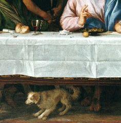 Les pèlerins d'Emmaus ( détail ). Titien