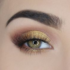 Yellow golden eyeshadow
