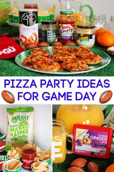 - Pizza party ideas for game day featuring Big Lous Onion Sauce, Breadcrumbs and Parmesan Cheese, and Mini Bagel Pizzas, Ginger Punch, and Tortilla Chips and Salsa for the WIN! Best Chips, Organic Snacks, Game Day Appetizers, Football Snacks, Chips And Salsa, Favourite Pizza, Pizza Party, Game Day Food, Tortilla Chips