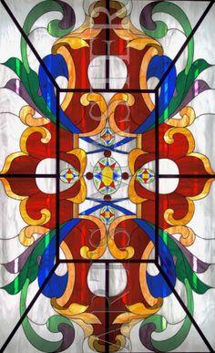 "Потолочный витраж ""Ренессанс"" Stained Glass Panels, Leaded Glass, Mosaic Art, Mosaic Glass, Arched Windows, Window Panels, North America, Ceiling, Quilts"