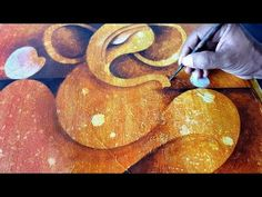 (2460) Abstract painting / Abstract GANESHA / Acrylics / Demonstration - YouTube