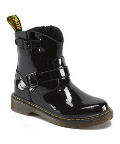 This Black Blip Patent Leather Boot by Dr. Martens is perfect! #zulilyfinds