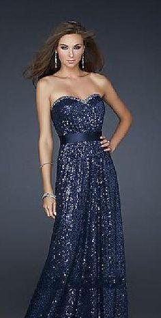 Sexy Sleeveless Dark Navy Natural Strapless A-Line Evening Dress Sale tkzdresses41522lkj #longpromdress #promdress
