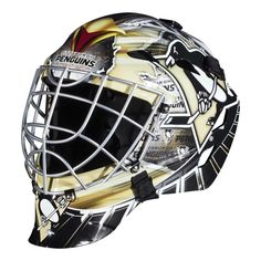 Franklin Sports GFM 1500 NHL Goalie Face Mask - Show off your official NHL colors by playing street hockey in this Franklin Sports GFM 1500 NHL Goalie Face Mask . This goalie face mask comes in your. Hockey Helmet, Hockey Goalie, Football Helmets, Ice Hockey, Hockey Players, Pittsburgh Penguins Goalies, Pittsburgh Steelers, Street Hockey, Goalie Mask