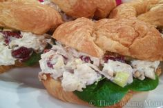 Door County Cherry Chicken Salad. I used dried cranberries and served rolled up in a tortilla.