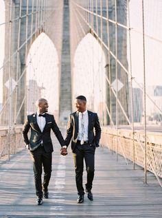 NYC Photographer | Calgary Wedding Photographers | Brooklyn Engagement Session | Gay Couple | New York City Engagement Photos
