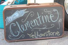 Paint an old suitcase with chalkboard paint. Darling!