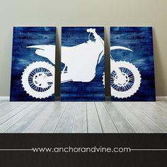 CANVAS // Dirt Bike Motocross // Oversized Canvas Large Wall