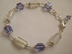 Dichroic Bracelet with Genuine Swarovski by CapricesCreations, $22.00